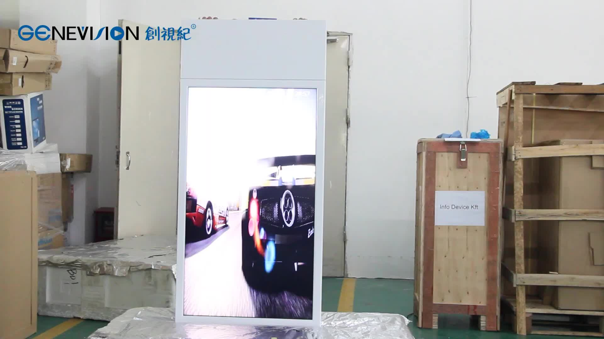 43 inch Ceiling Mounting 700nits High brightness Indoor Advertising Double Sided Digital Signage
