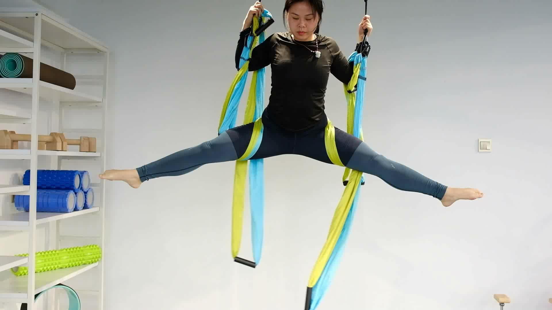 Bunte Fallschirm Fliegen Luft Anti-schwerkraft Yoga Hängematte