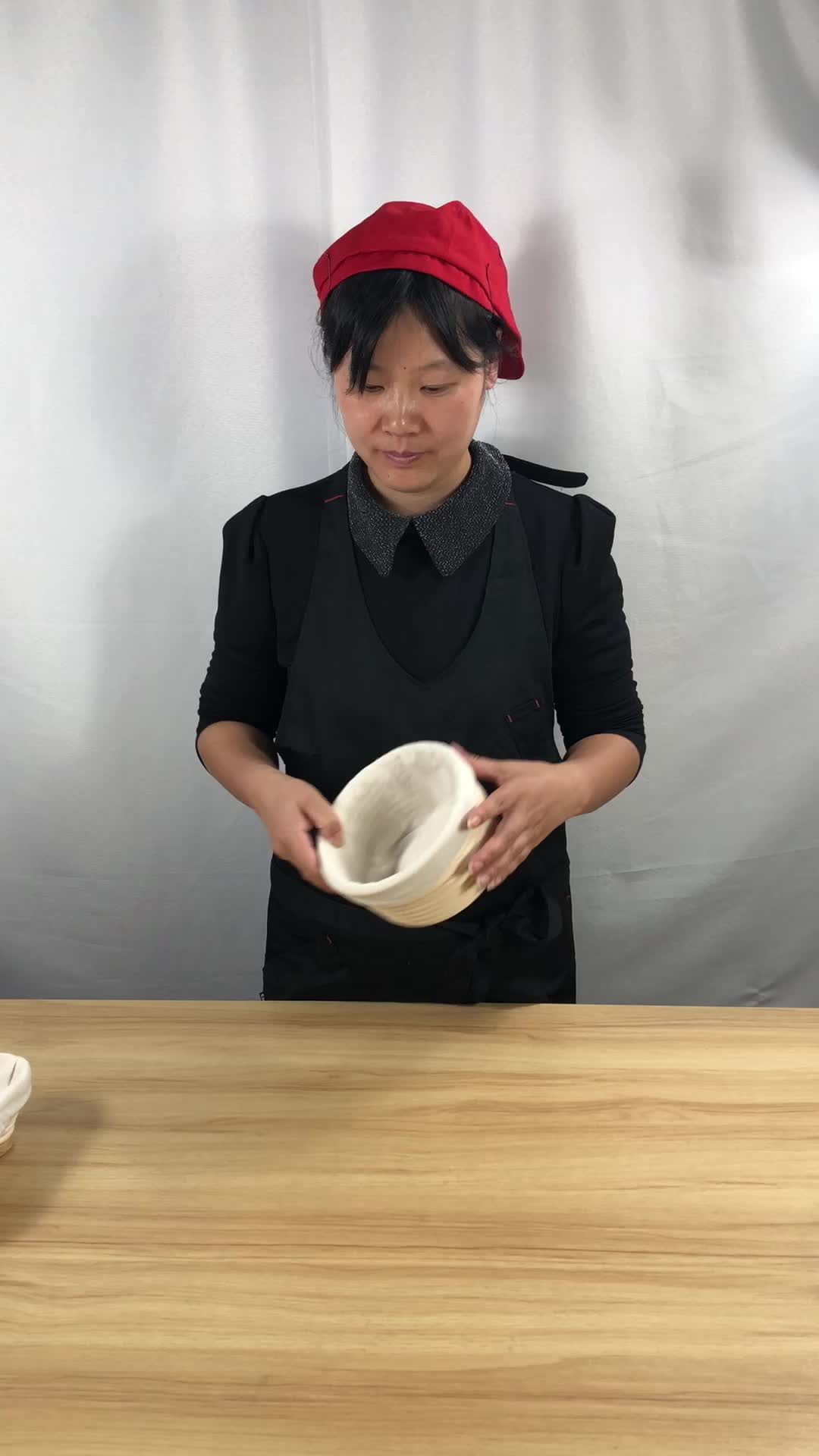 10inch Handmade banneton bread proofing basket set  Bread Bowl Rattan Banneton Bakery Tool baking sets