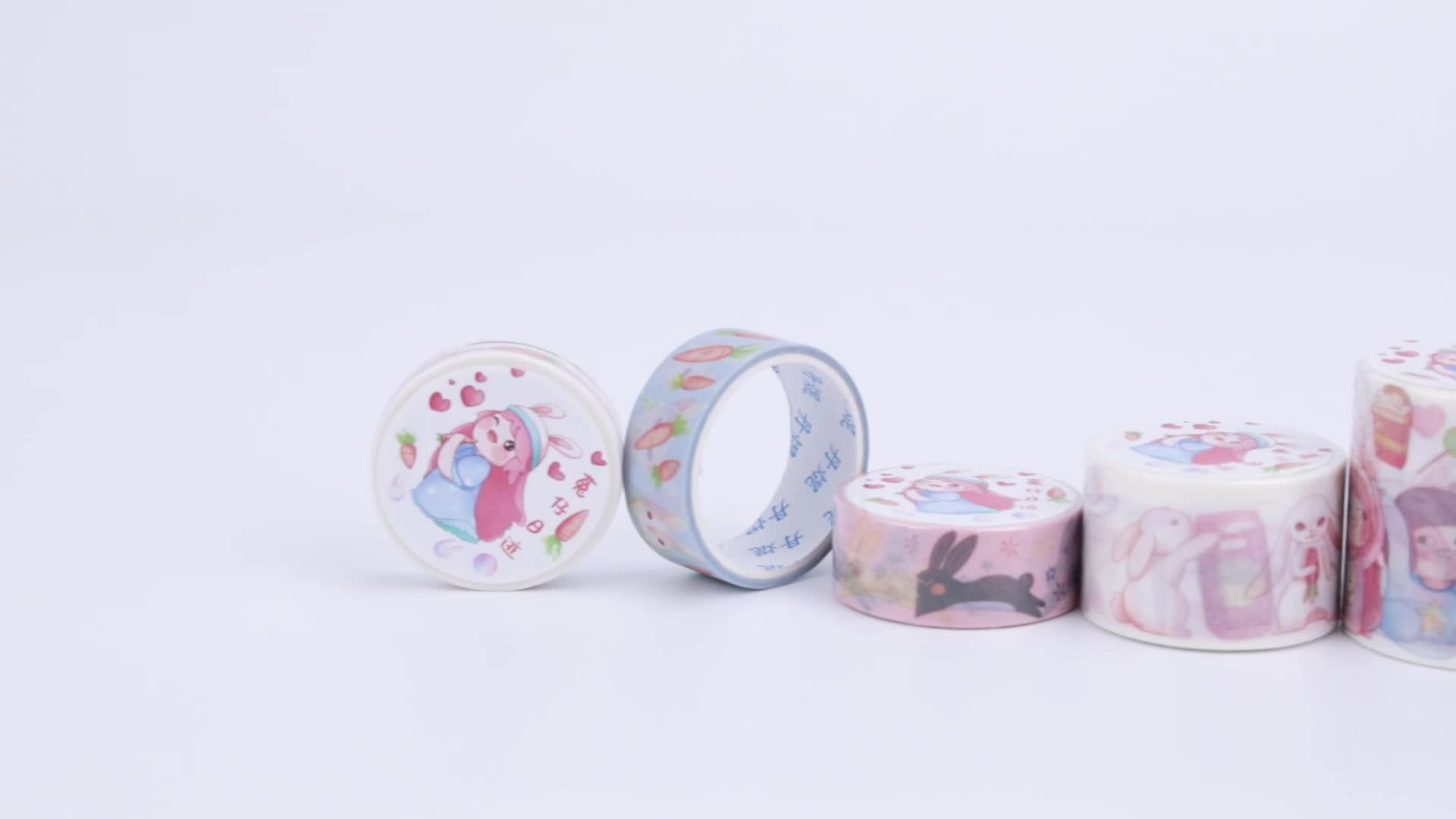 Impressão ofício Colorful Gravável Washi Japonês Fita Adesiva de Papel