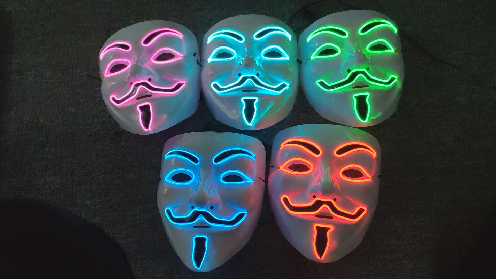 el wire mask for Halloween dances and street dances,Massive stocks,we can send out goods immediately