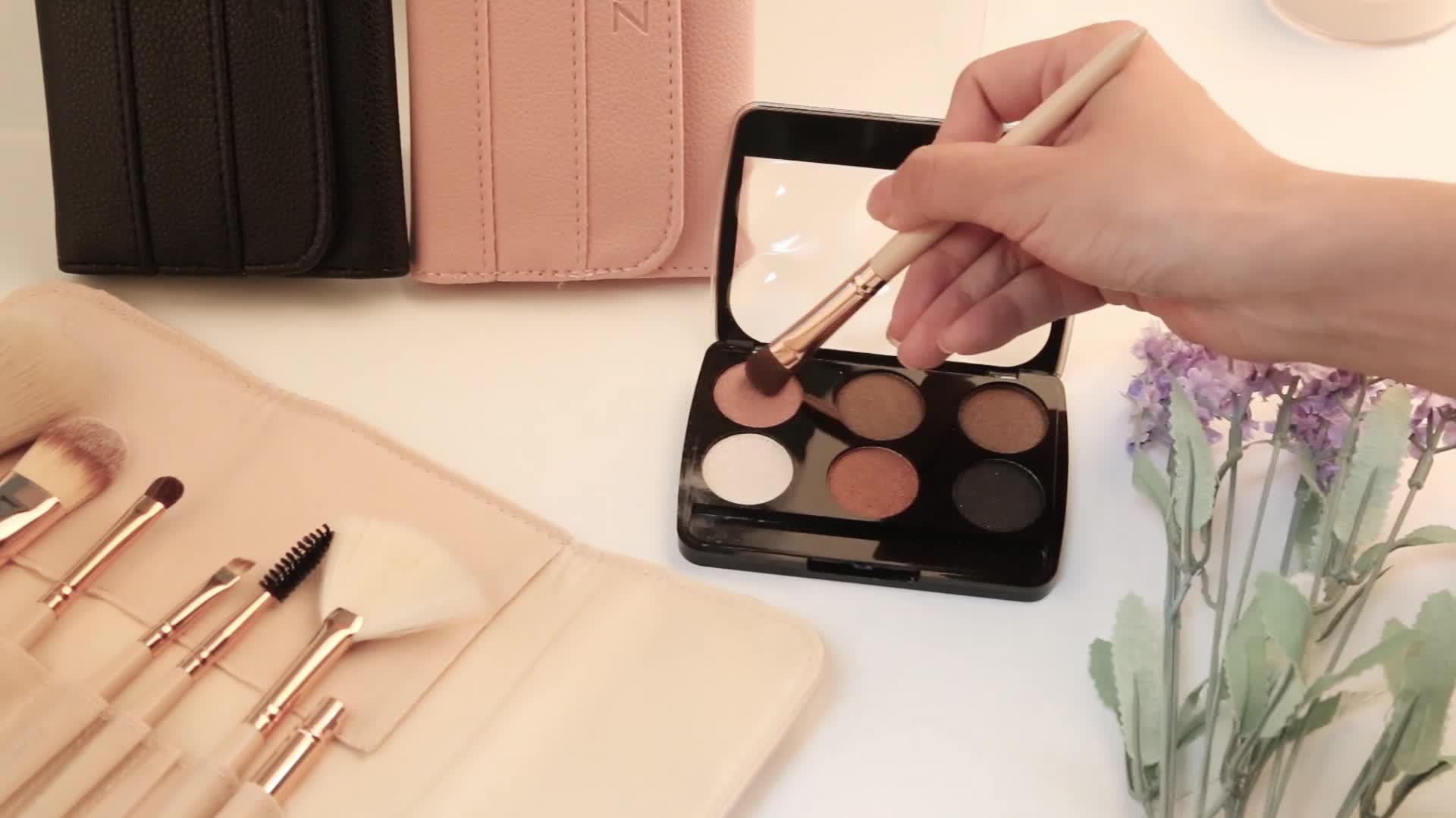 Nach 8 pcs kosmetik make-up pinsel powder foundation lidschatten make-up pinsel set de brochas maquillajes