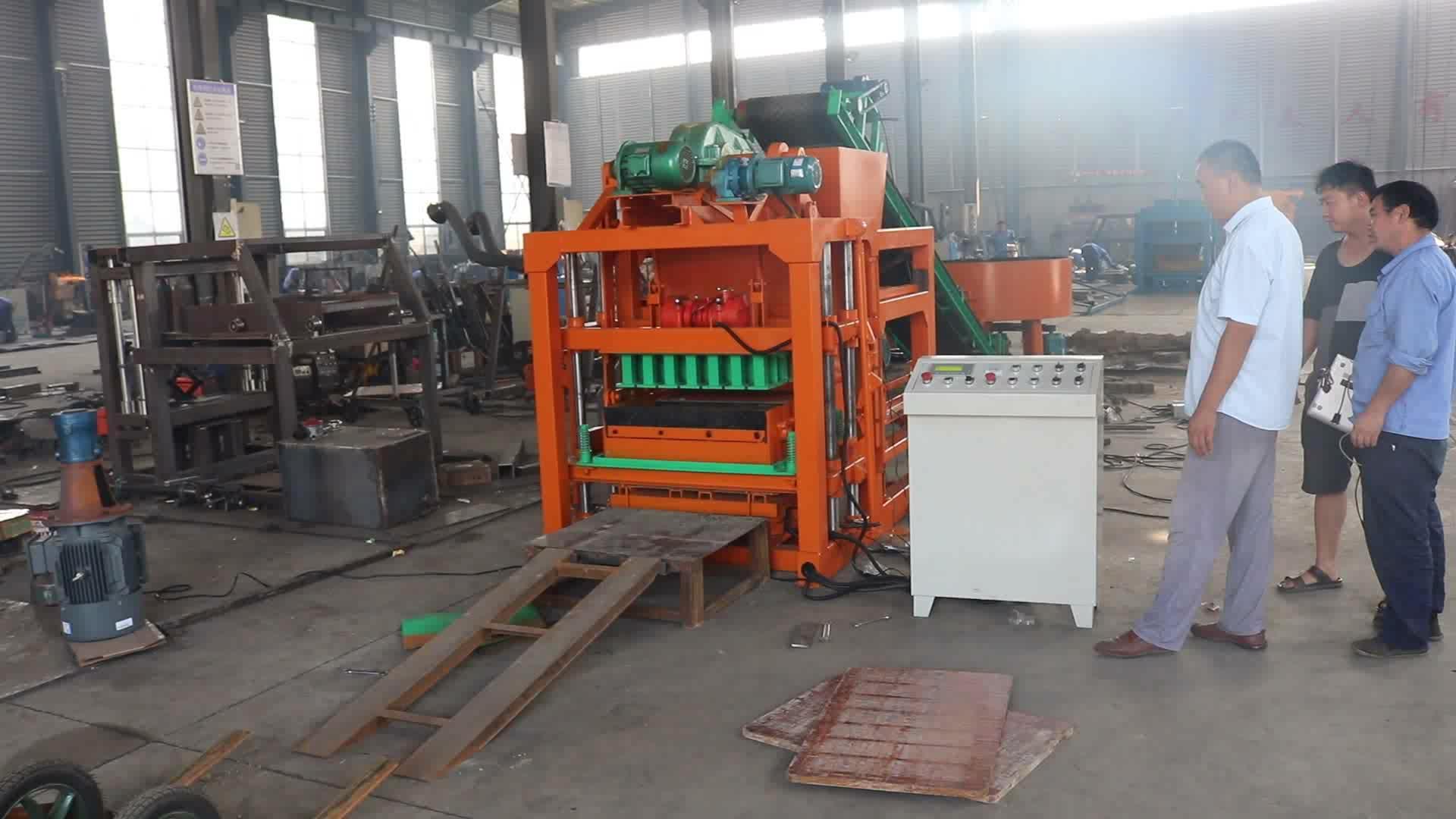 Kleine machines voor home business Qtj4-28 Goede kwaliteit cellulaire lichtgewicht beton bouwstenen baksteen making machine prijs