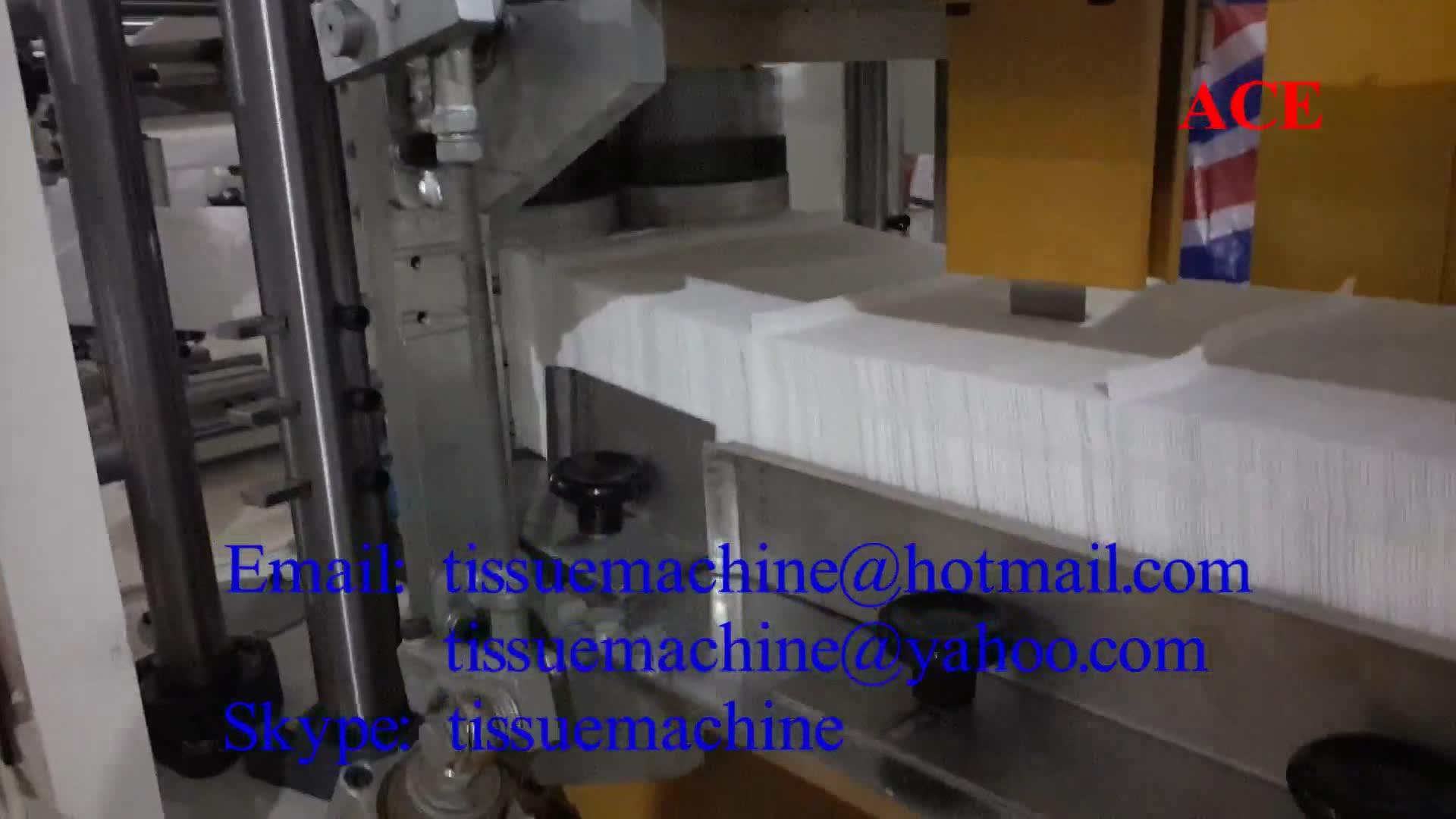 Umwandlung präge papier serviette tissue maschine
