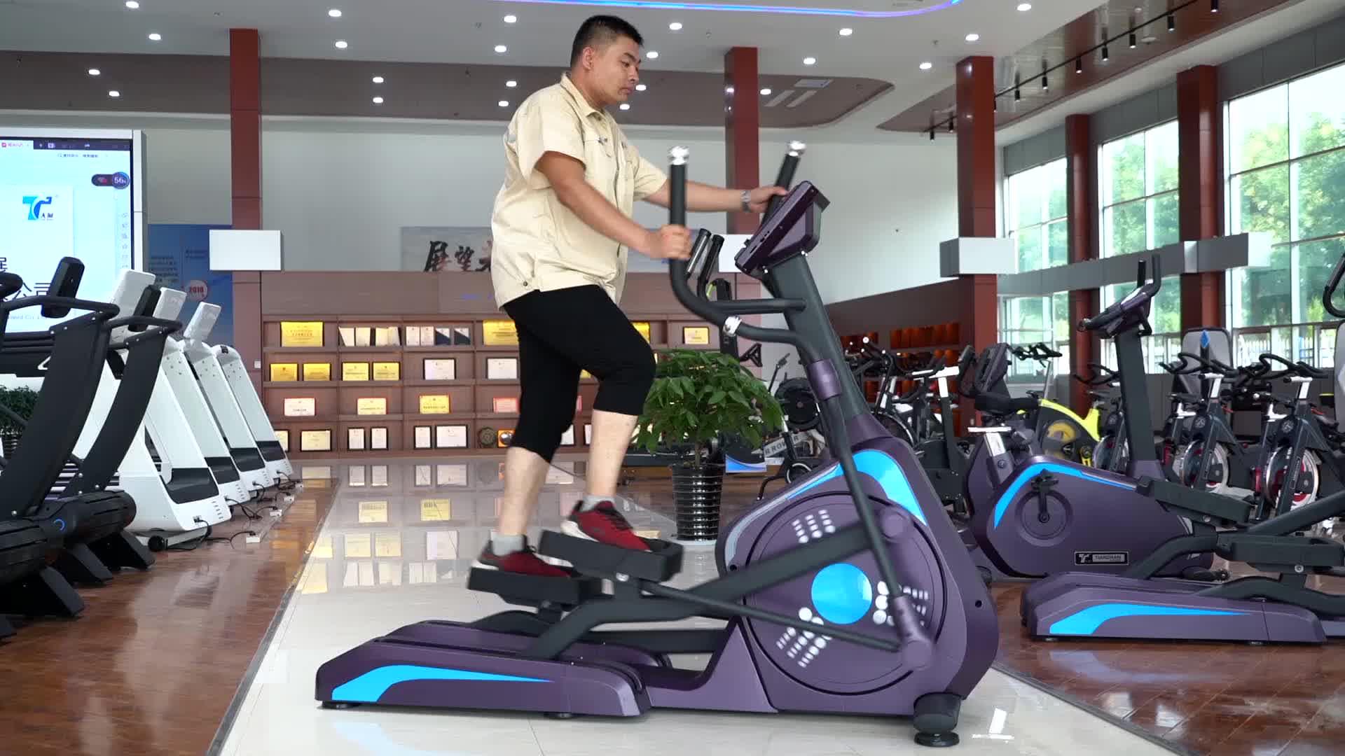 Manyetik Eliptik Makinesi Ticari Çapraz Eğitmen/bisiklet Eğitmeni TZ-2010B