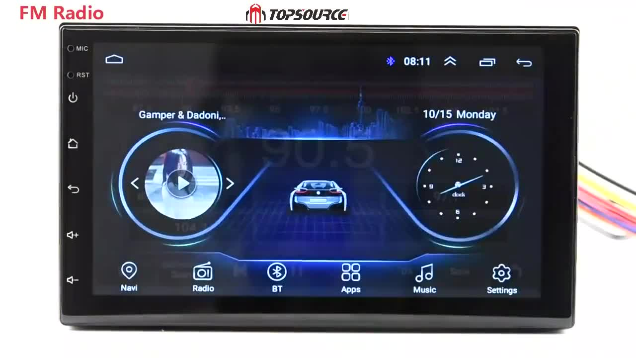 "7 ""Autoradio 2 Din Gps Android 7.1 T3 1G 16G Universel WIFI RDS AV Bluetooth GPS 2din Lecteur dvd de Voiture de NAVIGATION GPS"
