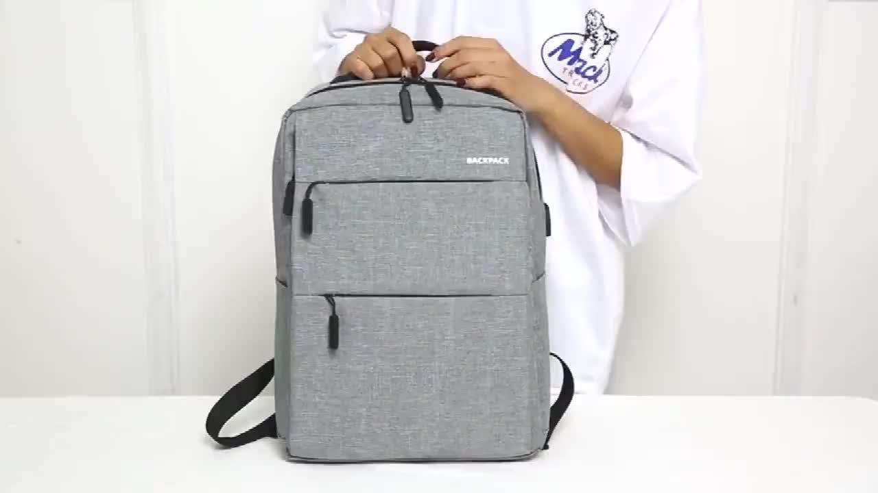 2020 Waterproof Large  USB Port Backpack College Bags Manufacturer Custom Backpack Bag