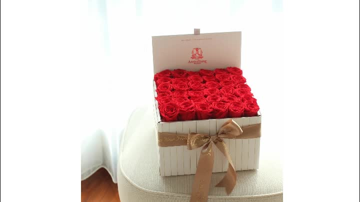 Hot sale best price preserved roses flower in gift box