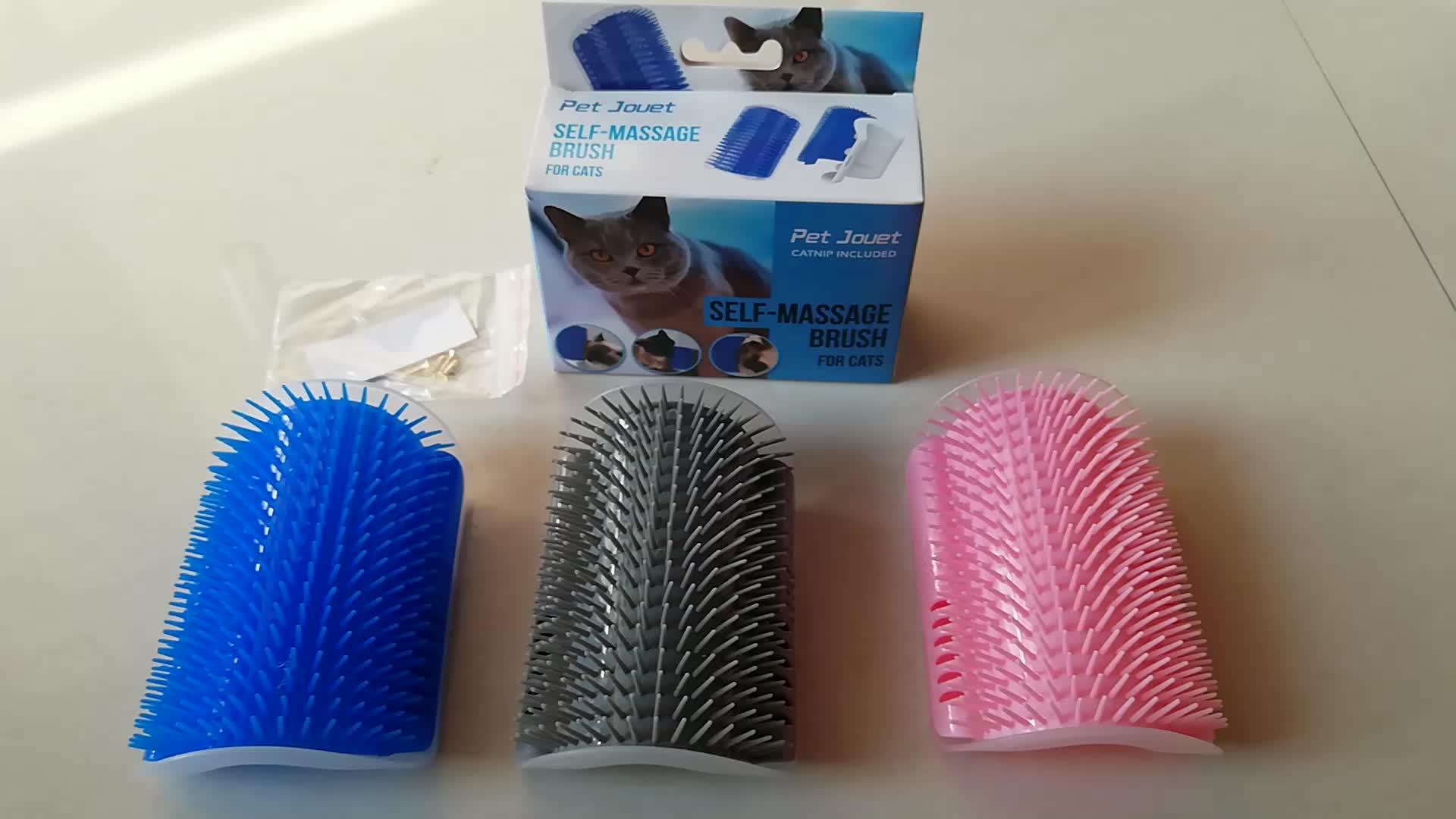 Cat Self Perawatan Dinding Sudut Sikat Anjing Kucing Sudut Perawat