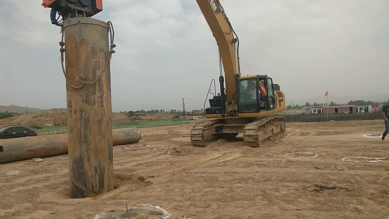 hydraulic pile driver for excavator