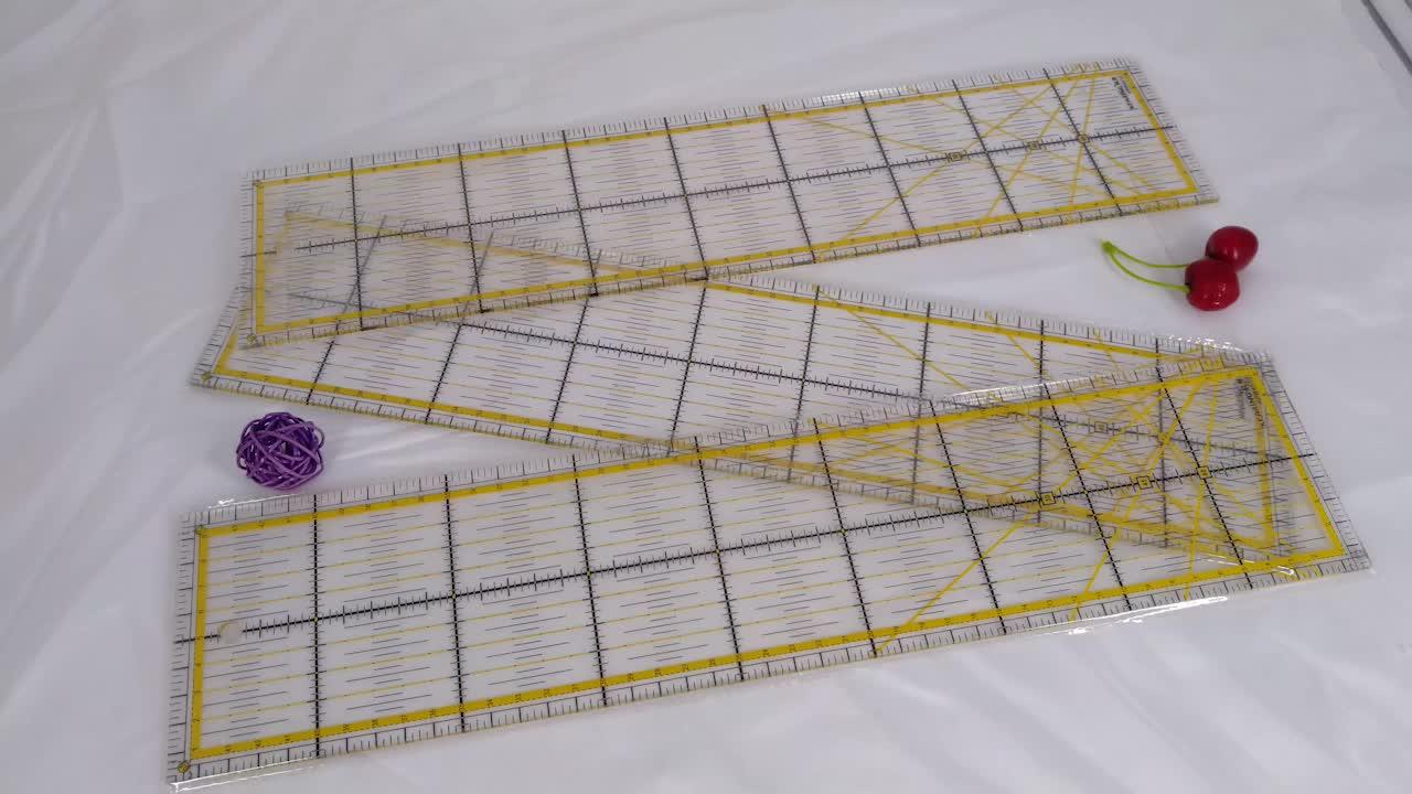 45*10 cm Acrilico Patchwork Righello Strumenti di Cucitura Fisso Righello con il Giallo di Taglio Righello # KPR4510