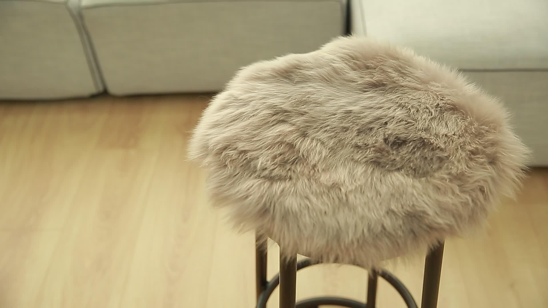 De piel de oveja de Ronda cojín de la silla cojín del asiento