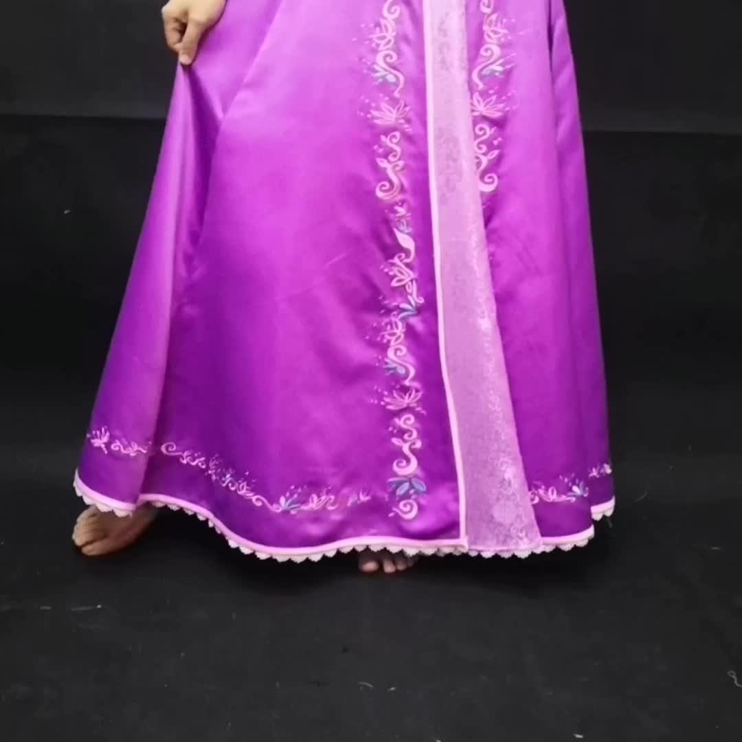 Rapunzel  Tangled Fancy Dress Adult Women cosplay  Costume Set (Dress Set) for christmas halloween P1905