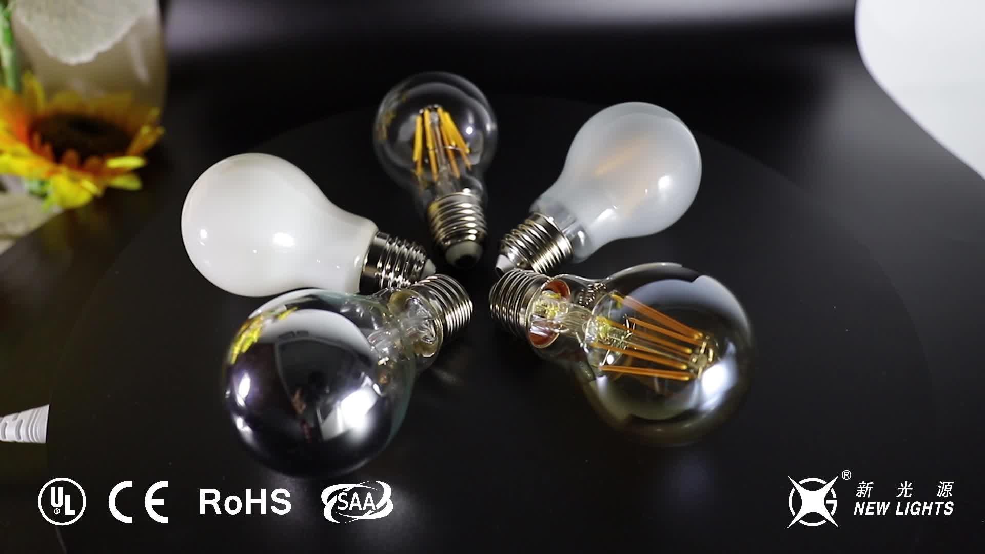 Bombilla regulable 2 W 4 W 6 W 8 W lámpara E27 A60 LED lámpara de filamento