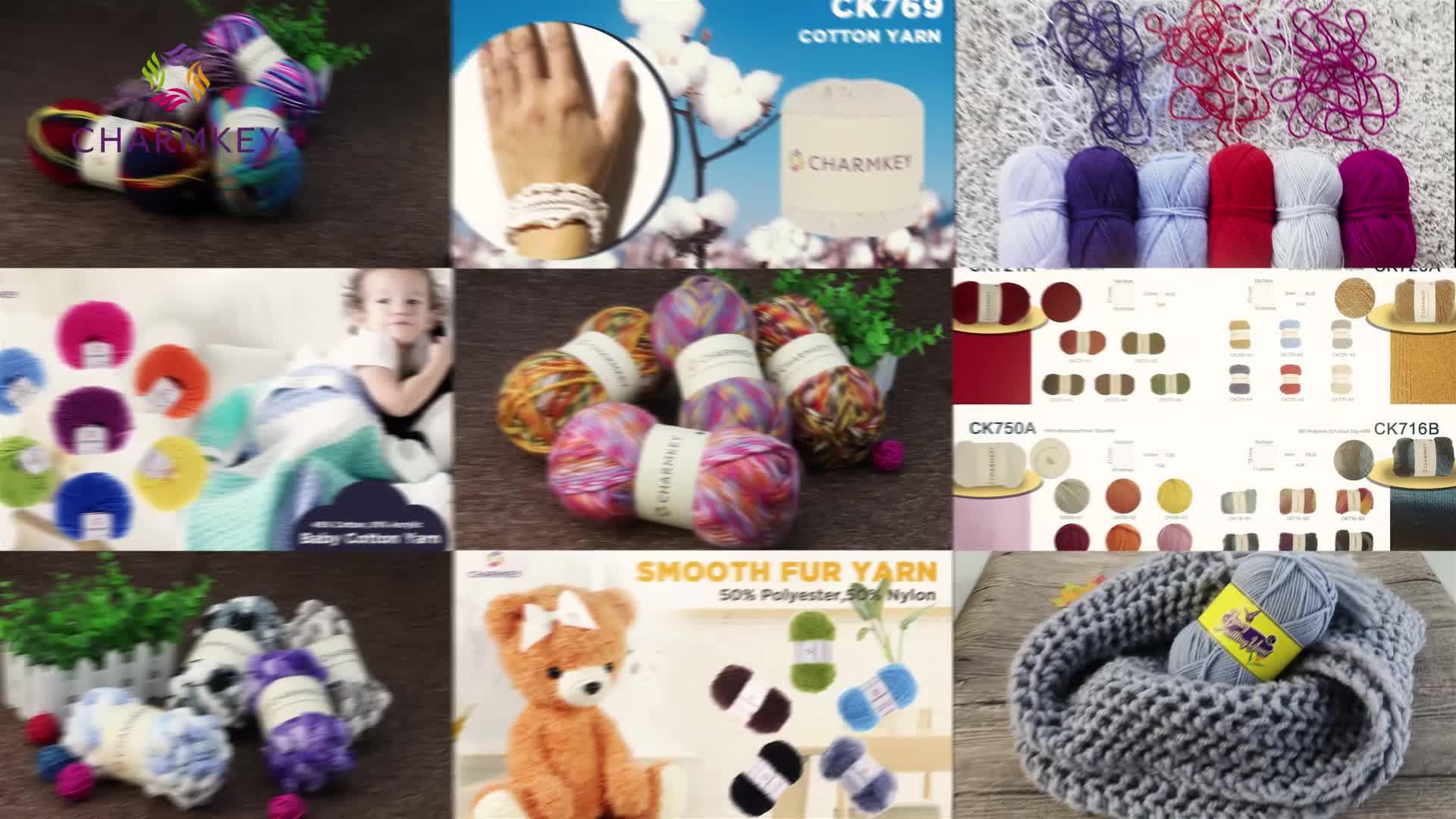 China Wholesales Charmkey 100% Nylon Mohair Yarn Hand Knitting Yarn for Sweater and Scarf