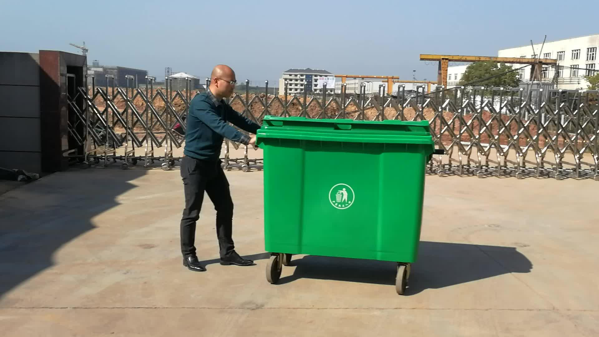 Abfall bin EN840 übereinstimmung HDPE 660 liter mülleimer