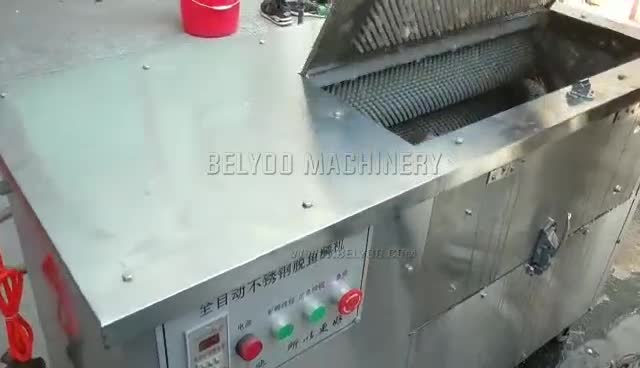 Industrial Pomfret fish scaler tool  East operation scaling machine for cleaning bass fish