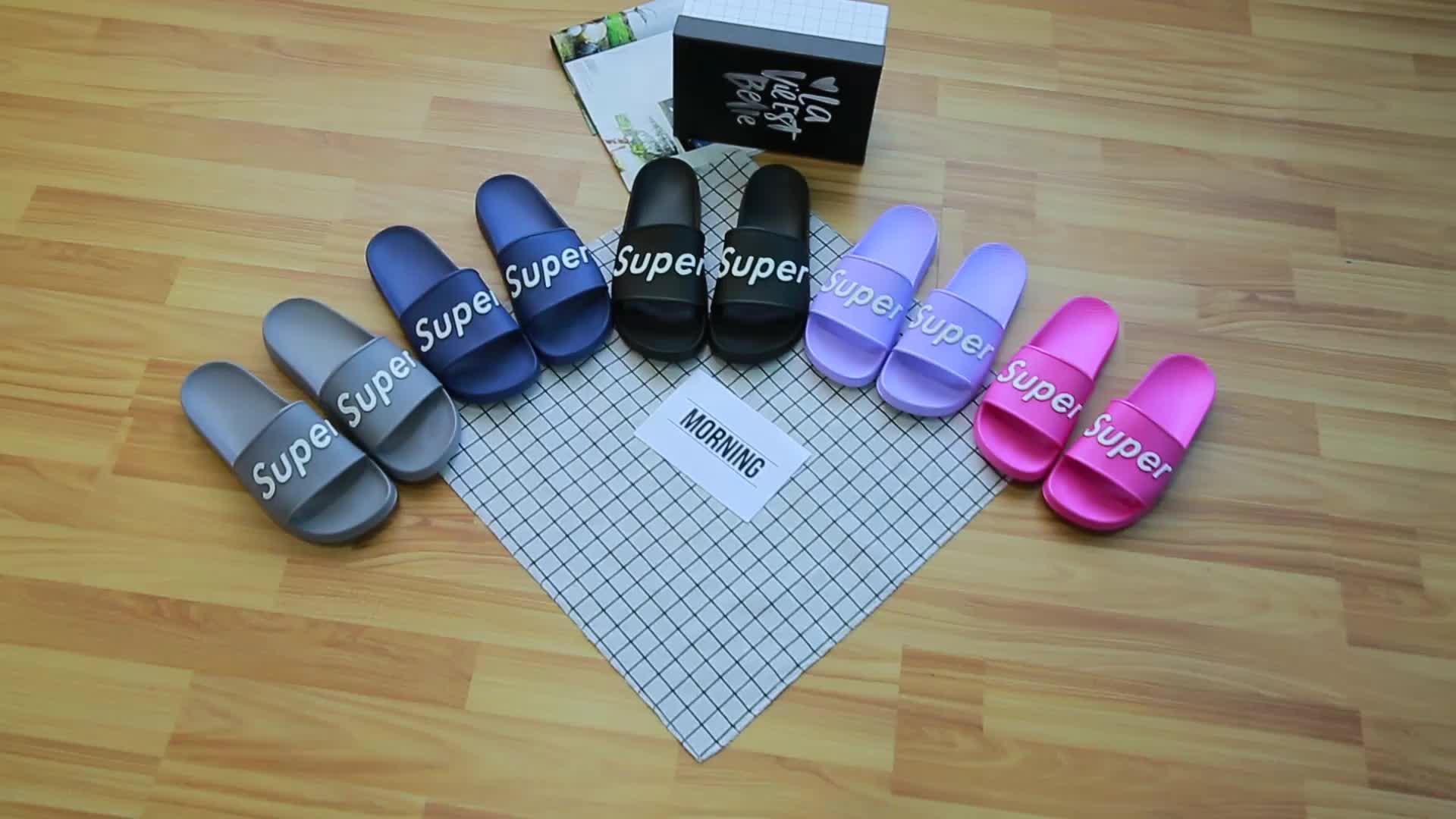 Cina a buon mercato all'ingrosso sandali su misura diapositive per gli uomini