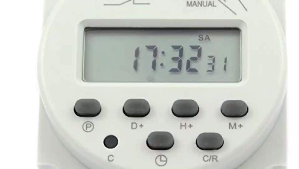 12 โวลต์ MINI โวลต์ DC DIN RAIL ANALOG บน/ปิด 24 ชั่วโมงโปรแกรมดิจิตอลไฟจับเวลา, AC TIMER