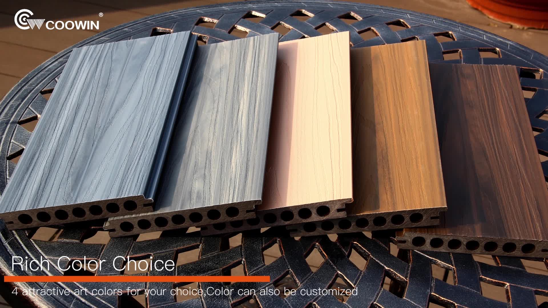 Reliable Quality Co-extrusion Outdoor Hollow WPC Decking