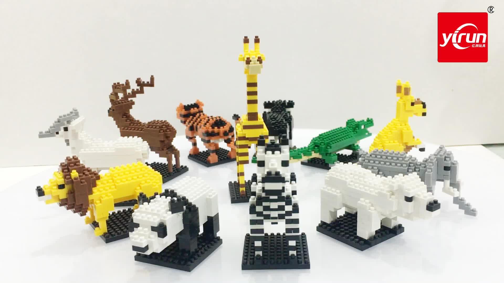 Kinderen speelgoed nanoblock aansluiten dieren speelgoed mini kazi bouwsteen voor kinderen, nanoblock groothandel, eco bouwsteen