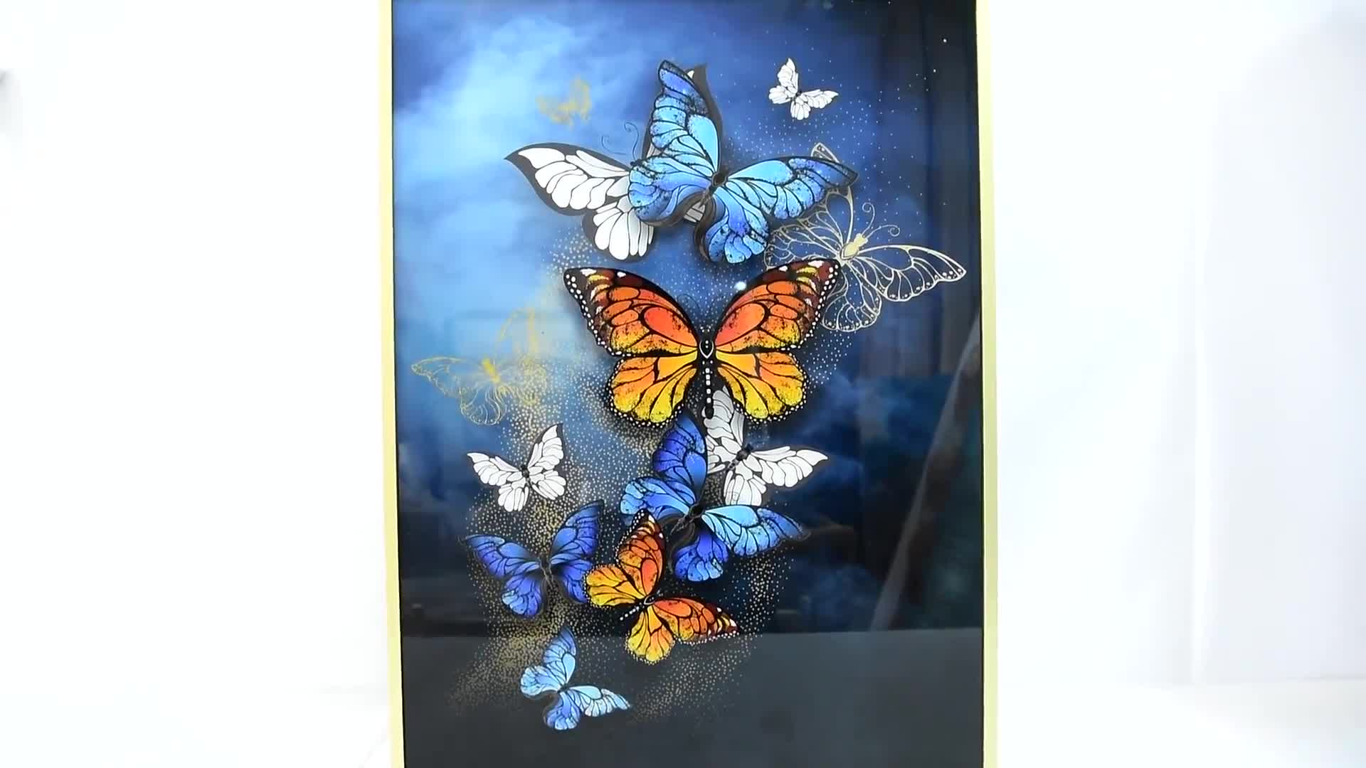 salable animal painting crystal painting glass painting