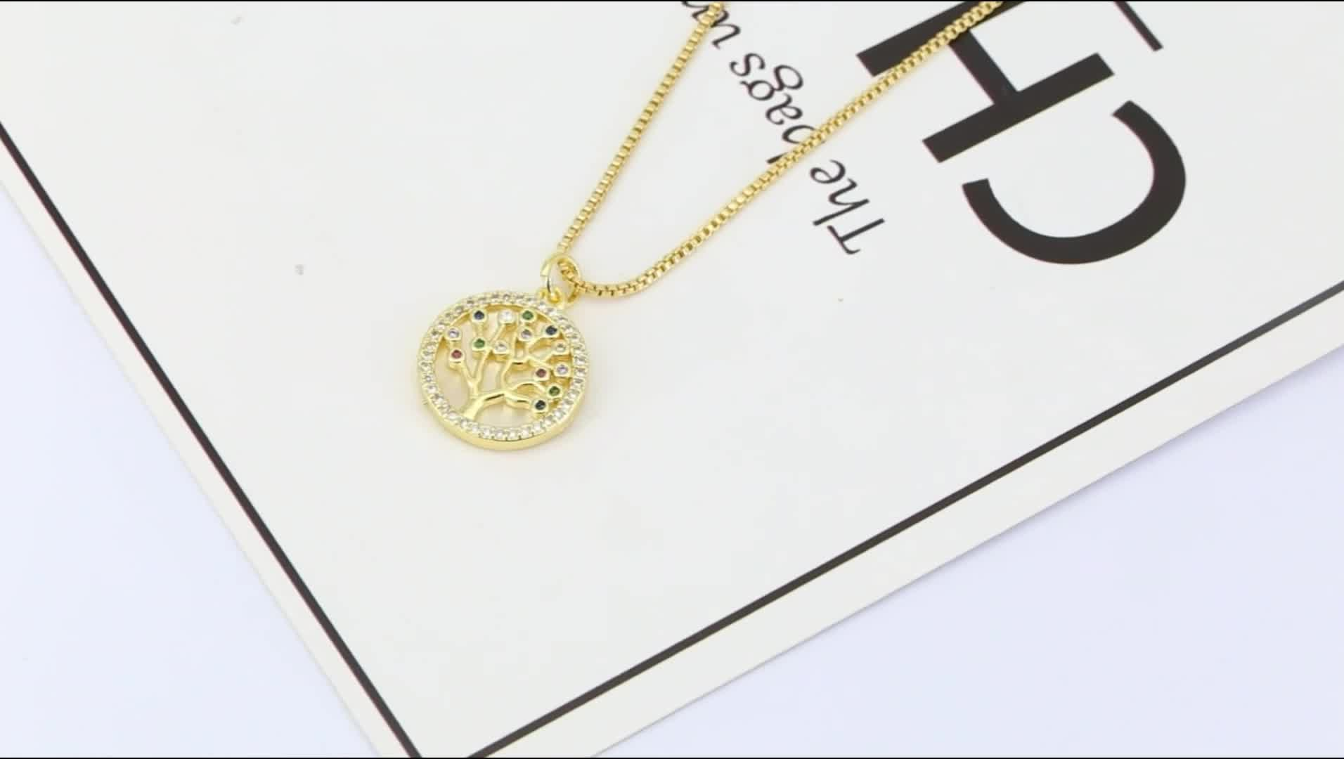 Tree Shape 18k Gold Plated Fashion Clothes Necklace