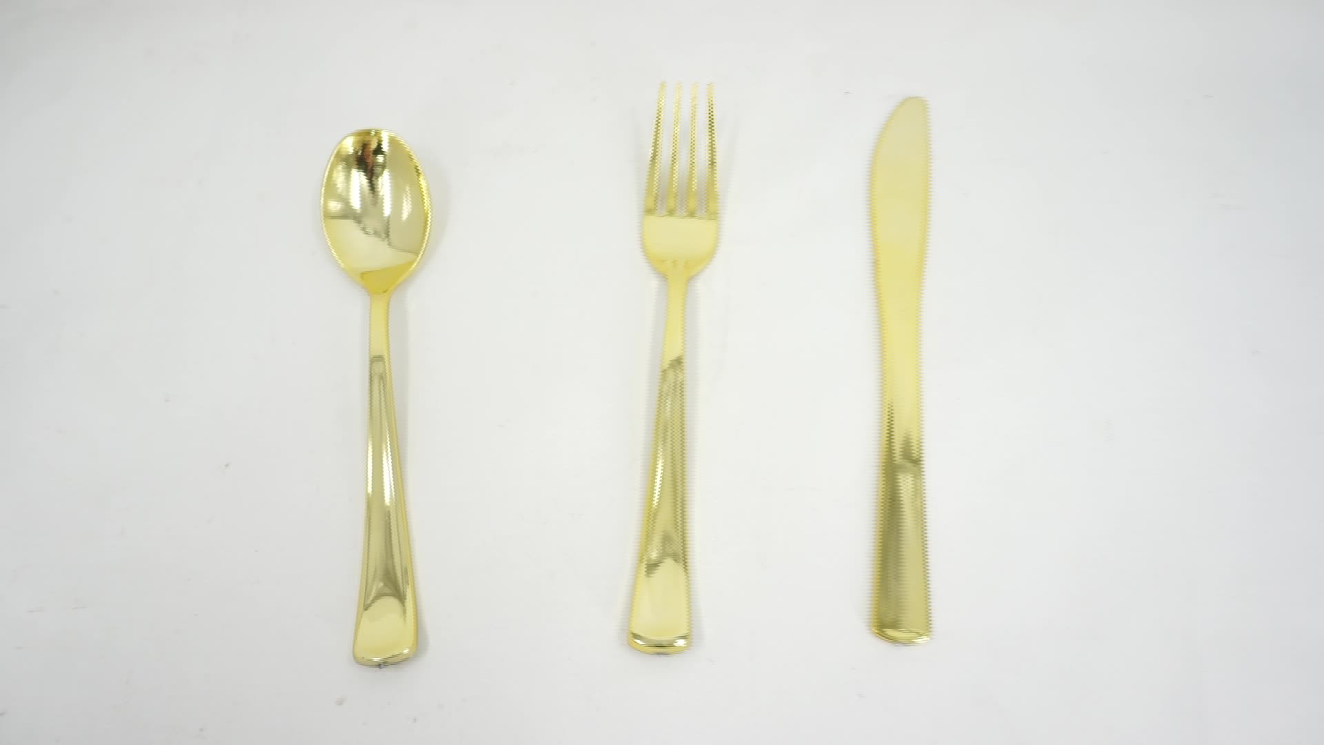 450 Gold Plastic Cutlery Disposable Silverware 150 Forks 150 Spoons 150 Knives