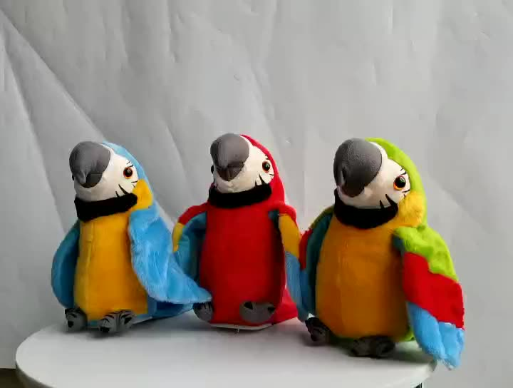 Electronic Simulation Parrot Toys Repeat Speaking Plush Stuffed Animal Talking Parrot Toy China Sale