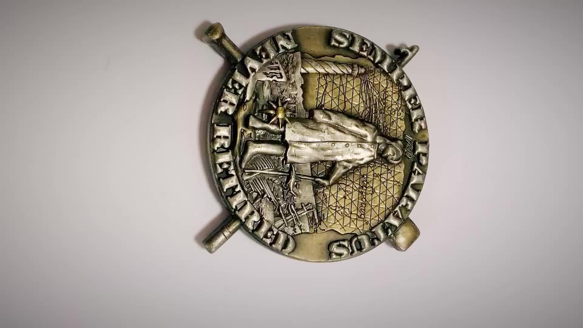 wholesale embossed 3D design custom metal souvenir coin