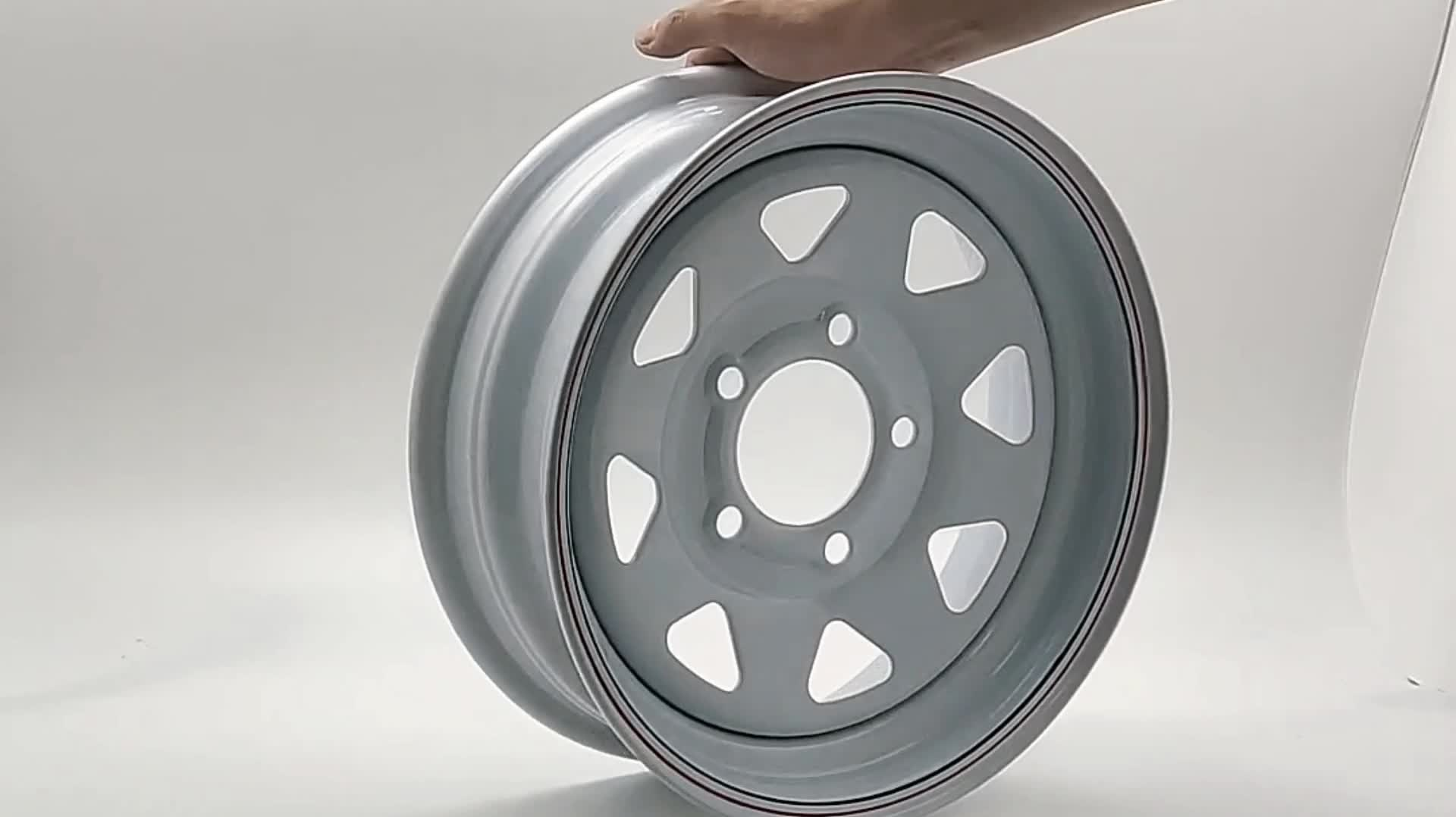 Wheelsky popular 16 inch 16x7J 6x1397 modular eight spoke steel 4x4 beadlock wheel rim for trailer