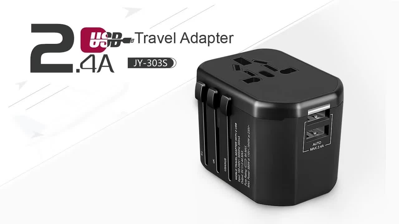 Newest Christmas gifts Universal Travel Adaptor AC Power Plug USB Type C Adapter