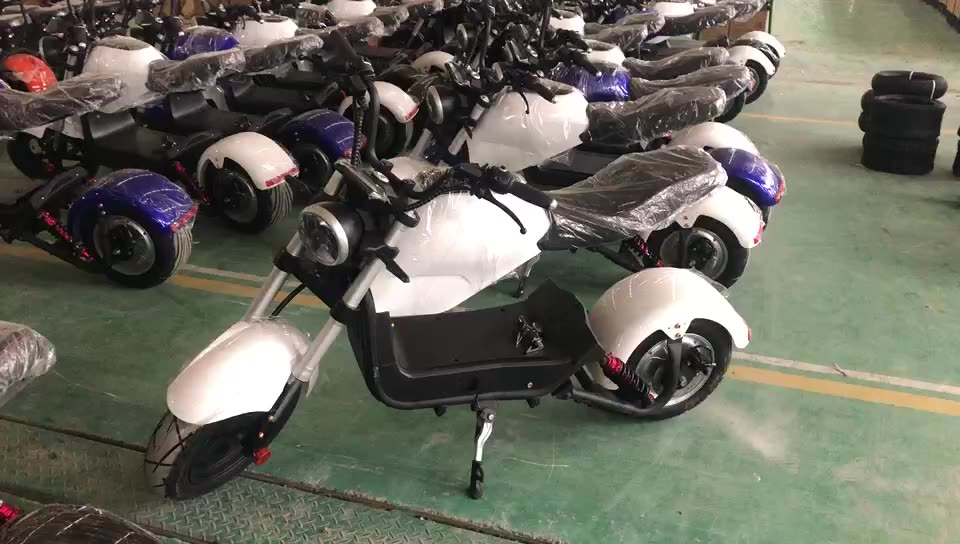 1500 w COC approved MIKU MAX style electric chopper citycoco scooter for sale(YHZ-17)