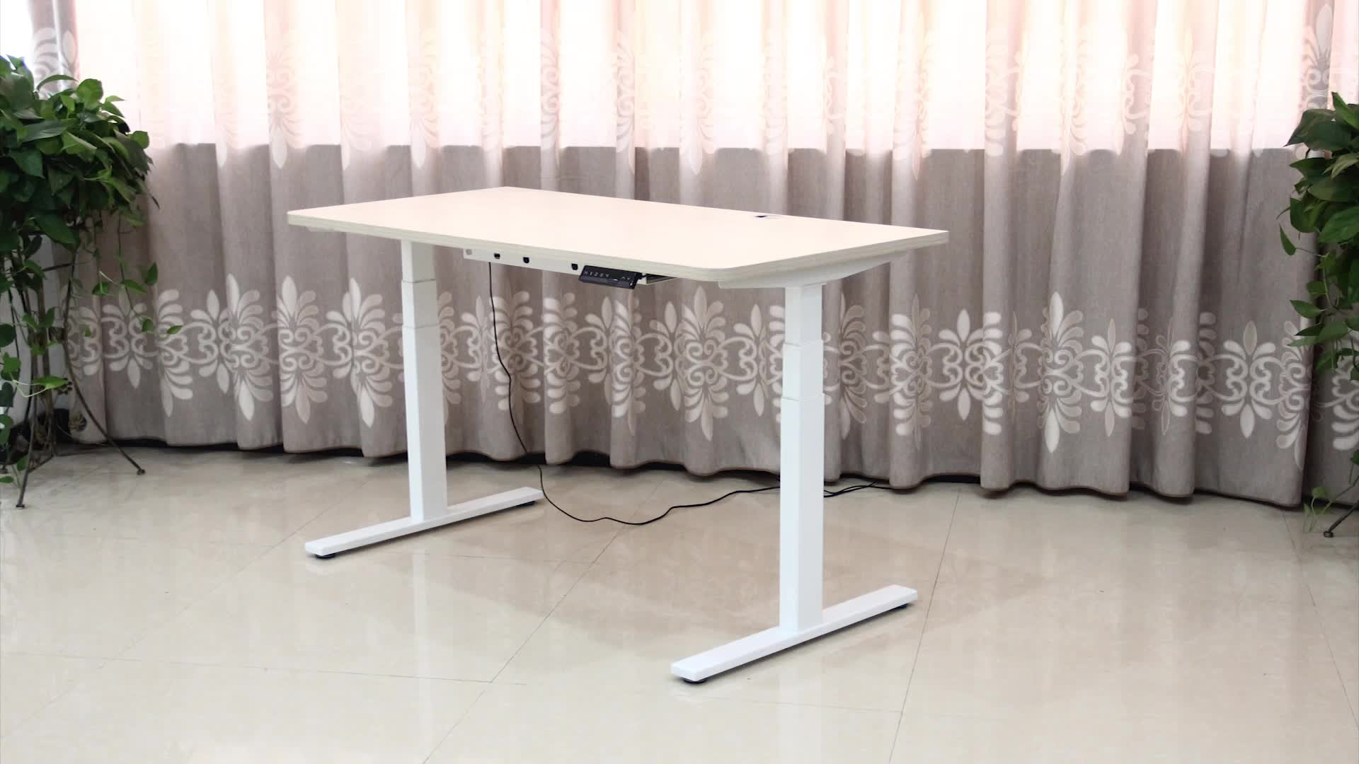 high quality folding adjustable low noise table sit stand desk with four preset memory