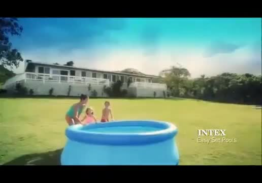 Intex 28130 Easy Set Above Ground Inflatable Family Swimming Pool