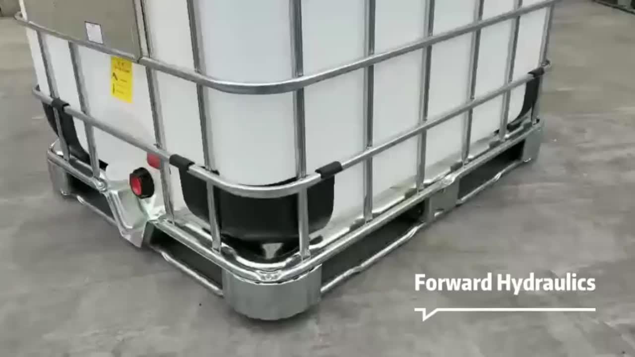 Plástico ibc tote 1000 litros tanque de água na gaiola para venda