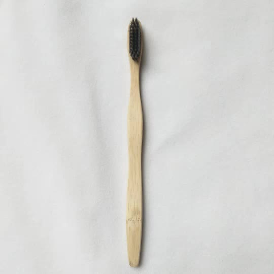 Wholesale Biodegradable Eco-friendly charcoal bristle bamboo toothbrush
