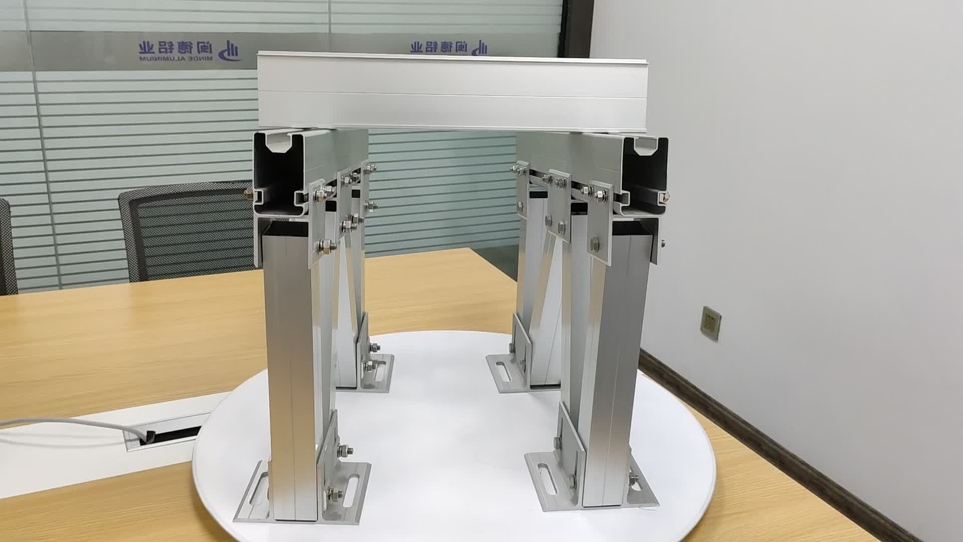 Aluminum Extrusion Frame Solar Mounting for Solar Panel Support Structures