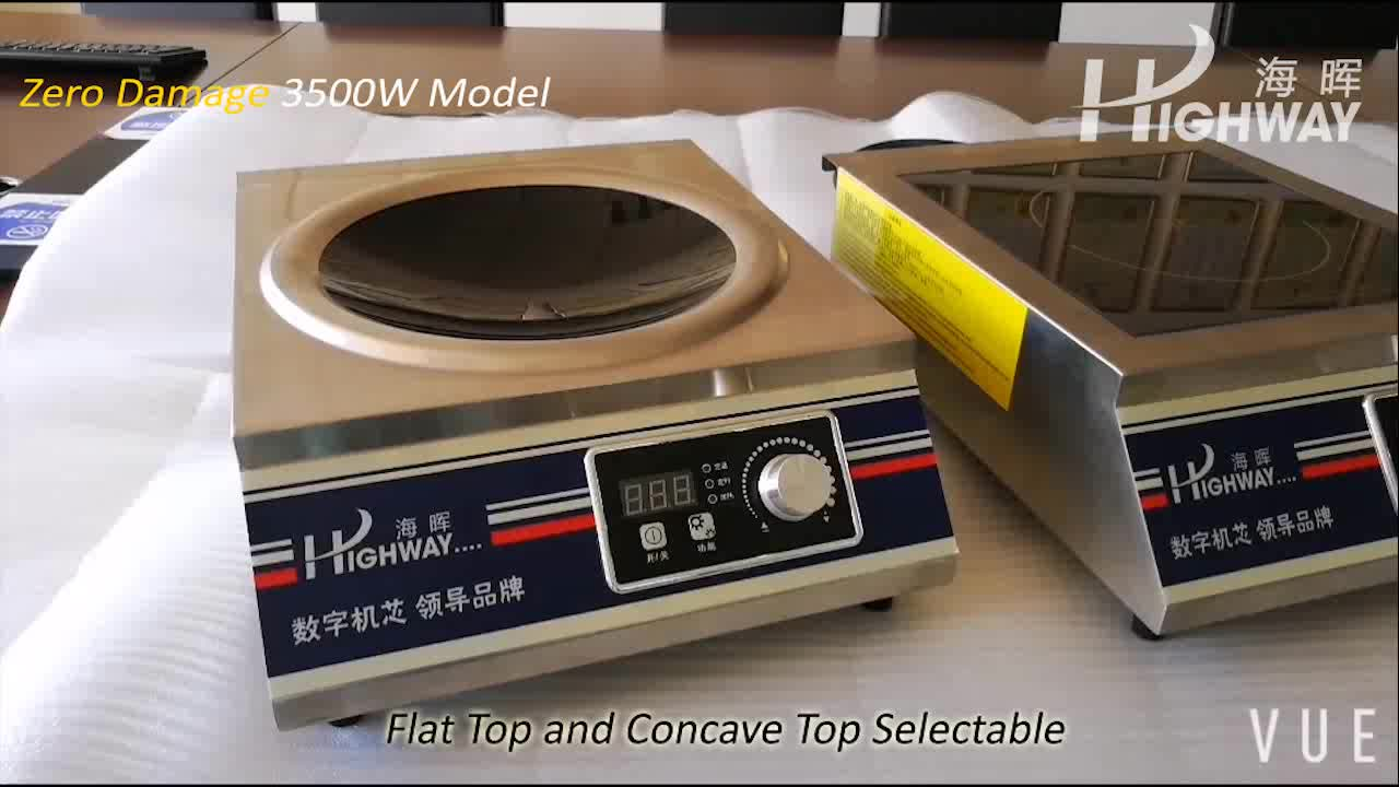 3500W Table Top Commercial flat Induction Cooker for Restaurant