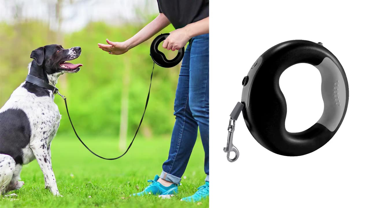 Top Quality Dog Leash Training Auto Led Retractable Dog Leash Lead Running Walking