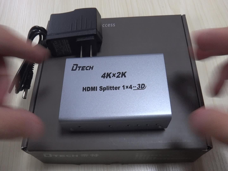 High quality  full hd 1080p 4k hdmi splitter 1x2