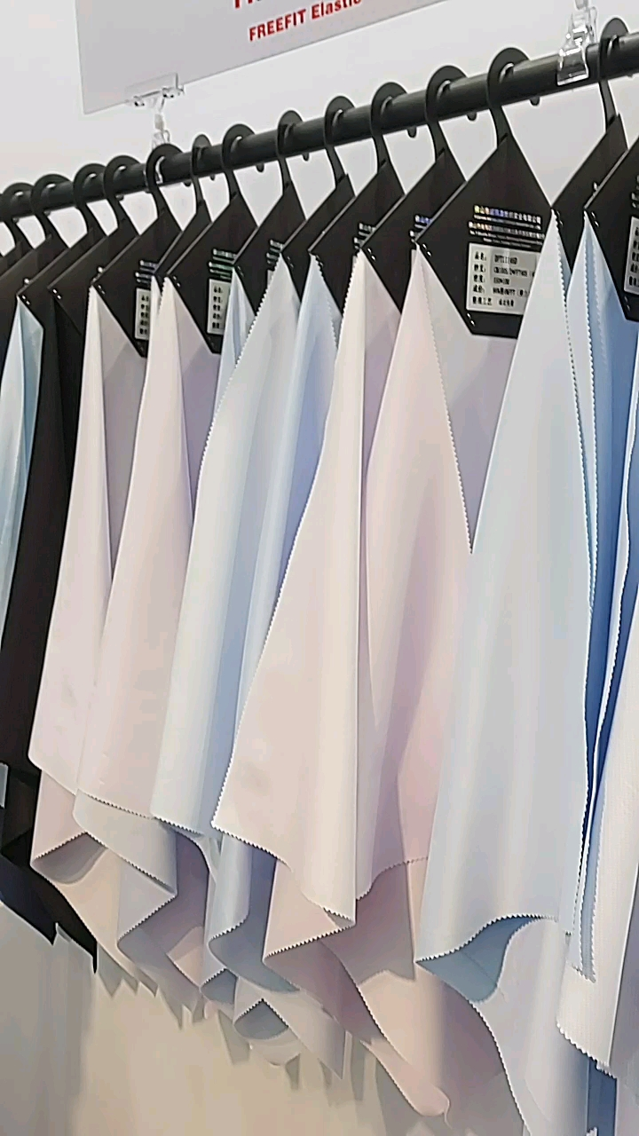 High Quality with Fashion Style  83% Polyester 17 Cotton  Solid White Poplin Yarn Dyed Woven Shirt Fabric