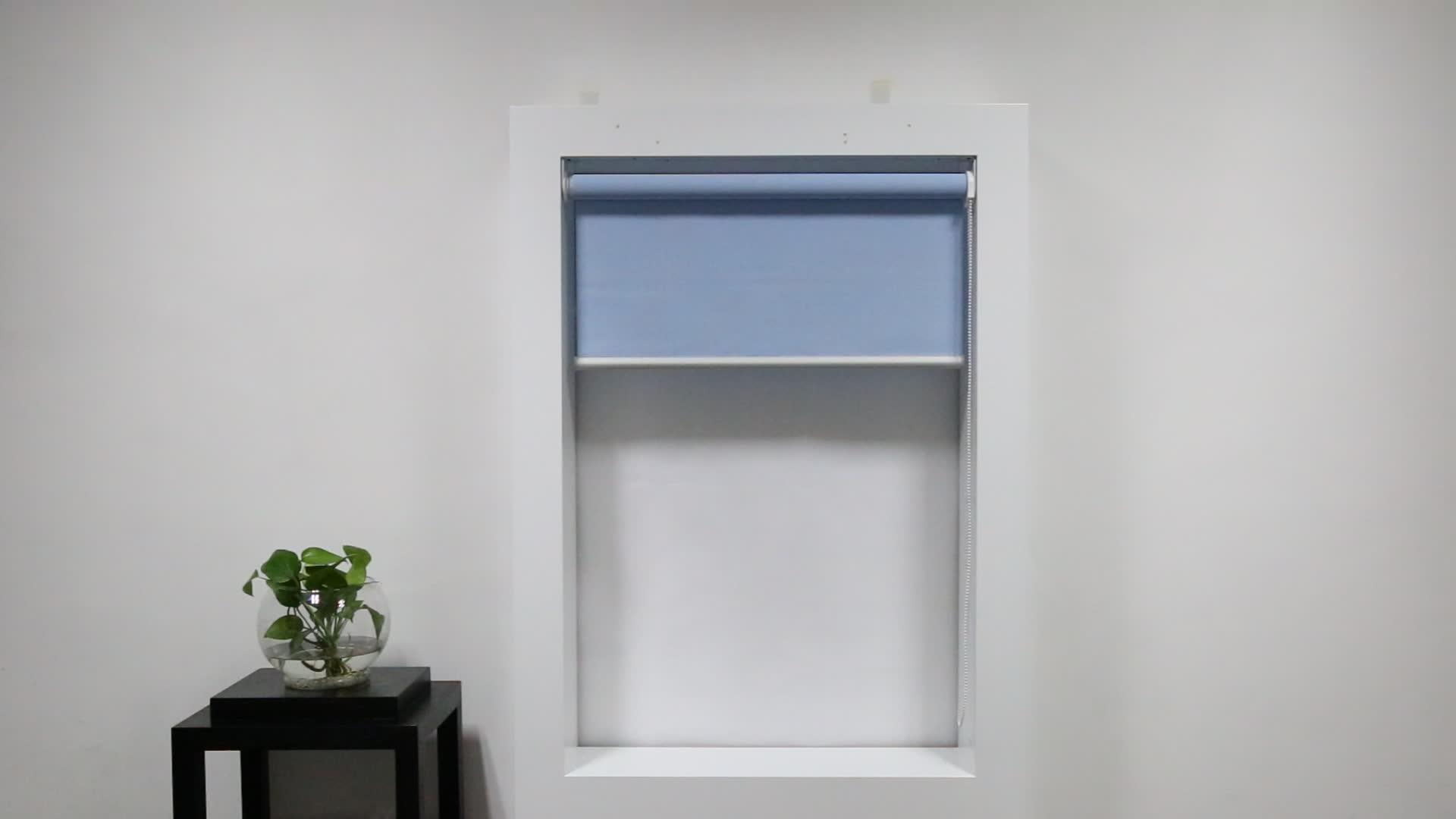 Indoor sunscreen manual/motorized roller blinds