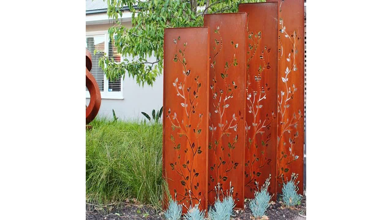 Custom Garden Decorative Laser Cut Metal Decoration Corten Steel