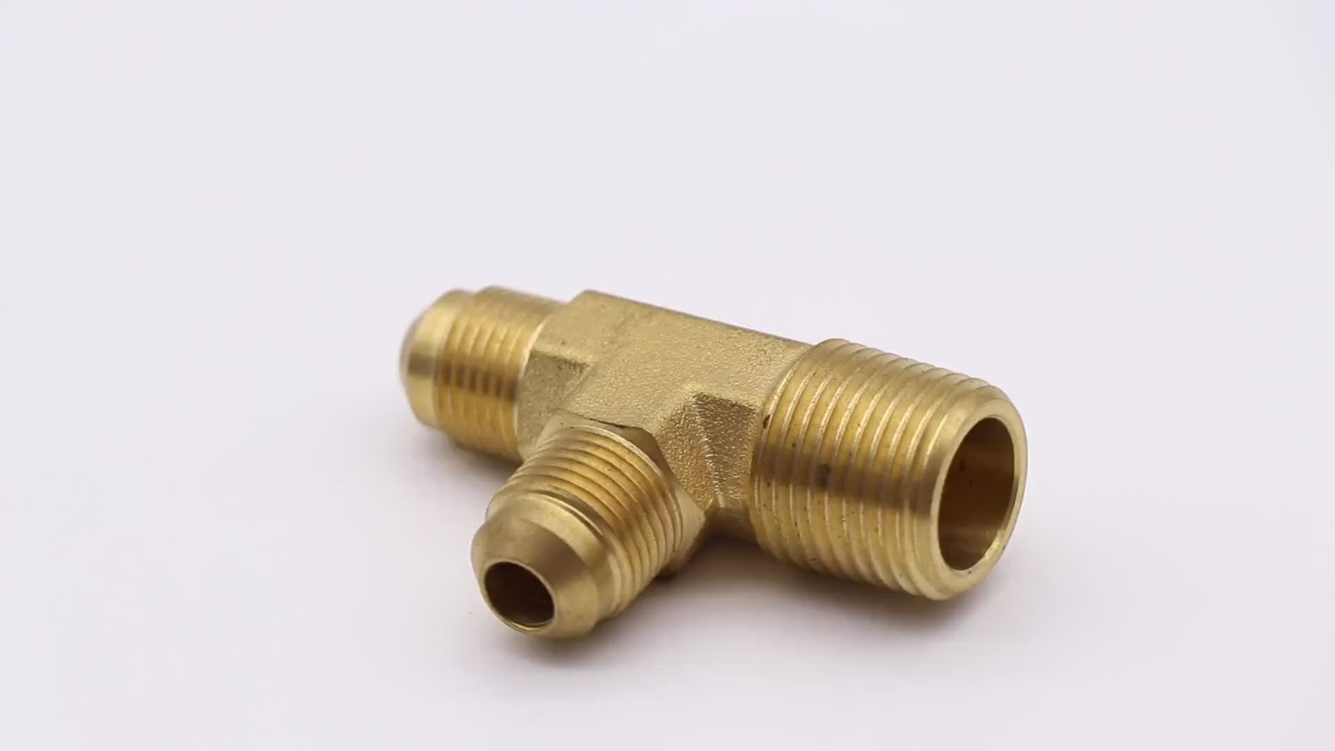 K521 male reducing pipe branch tee fitting, T shape pipe fitting, flare fitting for refrigeration