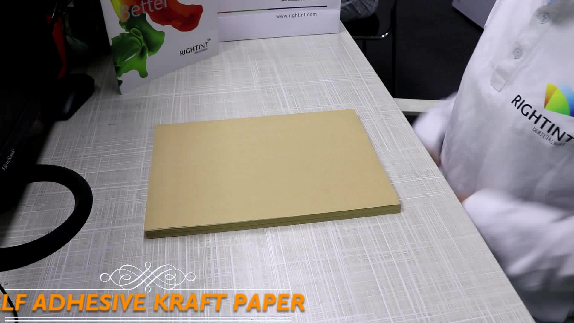 High quality and Best priced Self Adhesive kraft Paper in sheet or roll