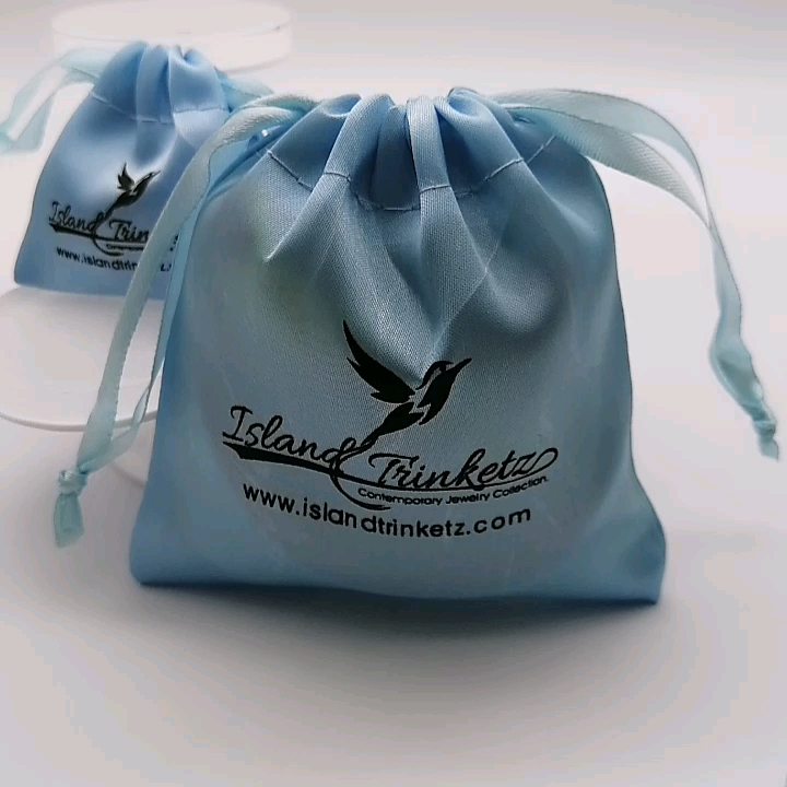 Wholesale high quality promotional satin packaging bag from China factory