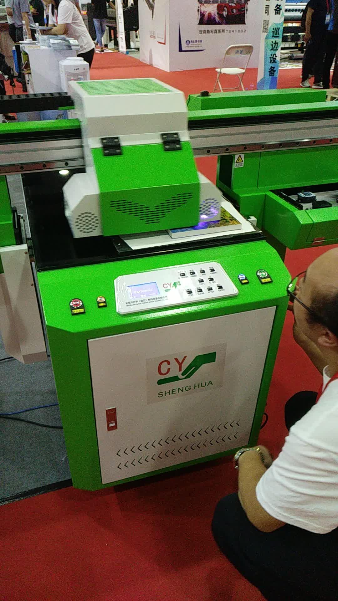 Piccolo formato 60x100 foto digitale stampante uv flatbed macchina da stampa su acrilico, vetro, legno, metallo, pietra