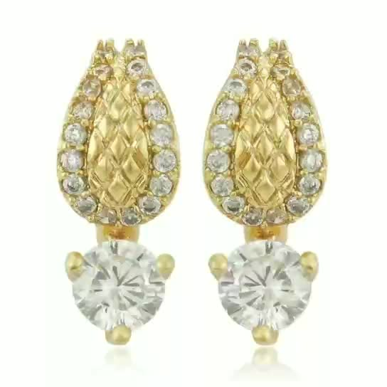 91586 xuping cheap wholesale three color artificial crystal kid earring
