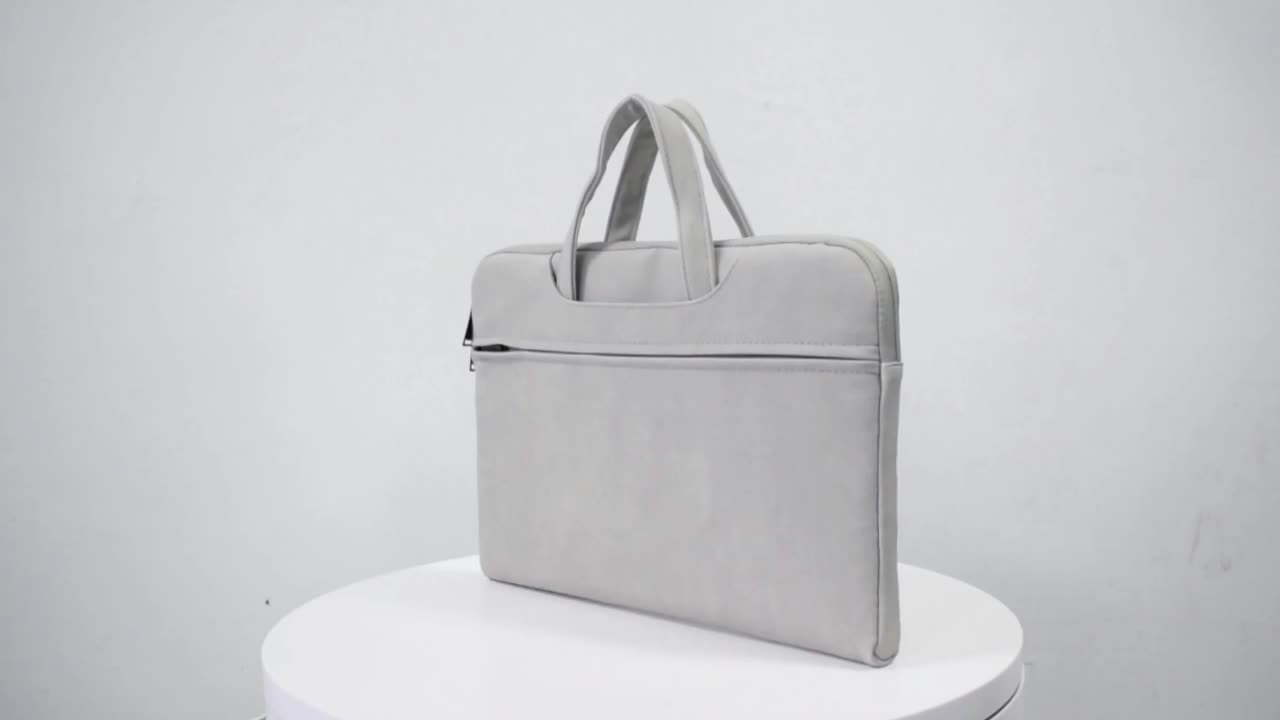 Top quality briefcase PU computer laptop bag leather